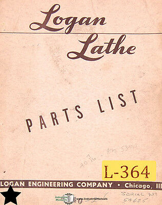Logan 940 Lathe Parts Manual