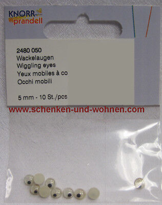 Wackelaugen 12 mm Knorr Prandell 10 Stück