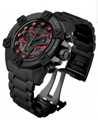 Invicta 63mm Grand Octane Coalition Forces Stealth Combat Black Red Watch