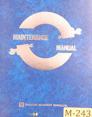 Mazak Slant Turn 40n Lathe Maintenance And Parts Manual 1984
