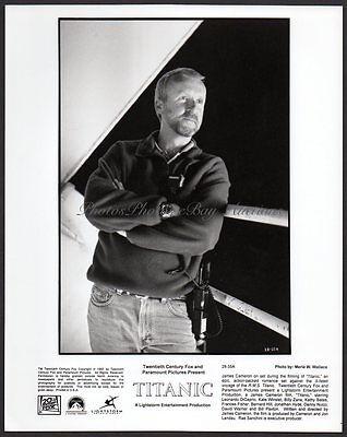 JAMES CAMERON director on the set TITANIC Vintage Orig Photo 8x10