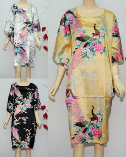 Sleepwear Pyjama Night Dress Flower Oriental Kaftan Nightwear Kimono Vintage