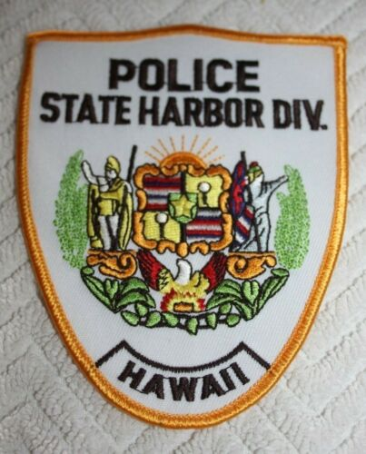 POLICE STATE HARBOR DIVISION HAWAII COLLECTORS PATCH HAWAIIAN COAT OF ARMS
