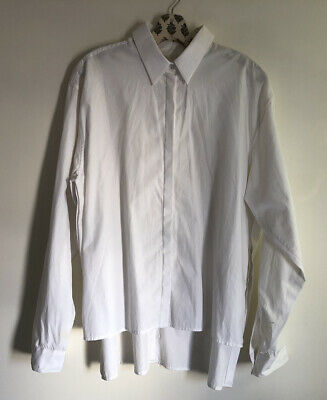 DION LEE White Button Up Shirt Top Size US 8 / AUS 12 $450