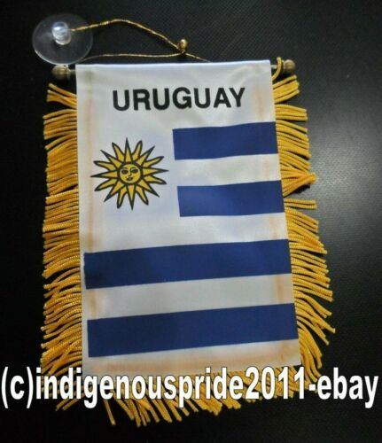Uruguay Flag Mini Car banner for your car mirror or any window.Great gift.