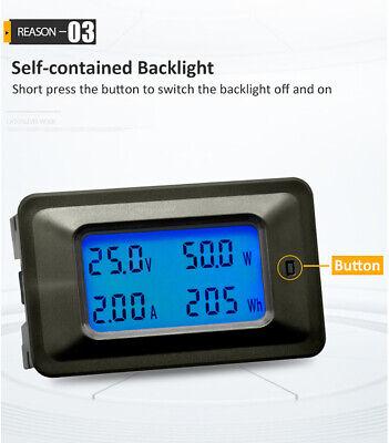 Lcd Dc 8-100v Current Power Energy Meter Tester Digital Voltmeter Ammeter Y0u5