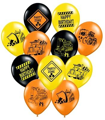 Construction Themed Birthday Parties (36 Construction Themed Balloons - 12