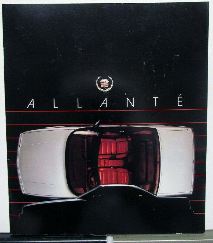 1988 Cadillac Allante Pininfarina Prestige Sales Brochure Oversized Original