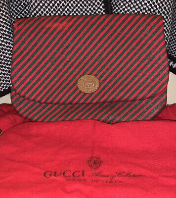 Authentic Vintage GUCCI Accessory Collection Cosmetic Bag With Dust Bag