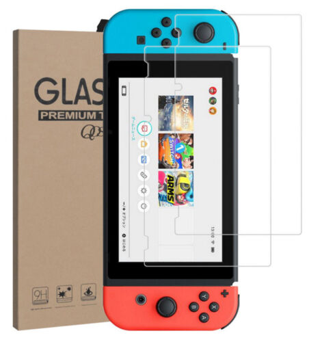 2X Tempered Glass Screen Protector Guard Shield For Nintendo Switch Console USA!