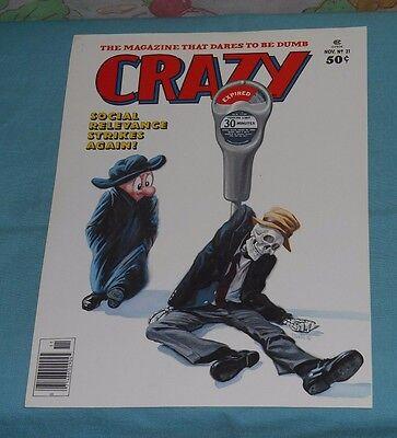 original CRAZY MAGAZINE #21 FRONT COVER PRINTERS PROOF