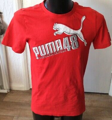 """Puma sport red graphic t-shirt size S approx 38"""" chest"""