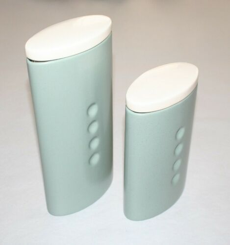 Noritake Colorwave Green Small & Medium Canisters With Lids, Lids Have Crazing
