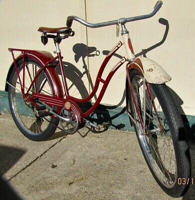 2x 24x1.75 Black Bicycle Tires Cruiser Brick Pattern