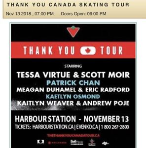 3 tickets to the Thank You Canada Skating Tour