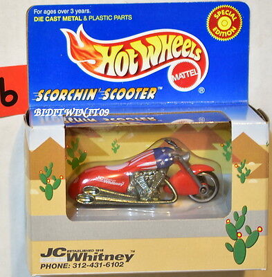 Hot Wheels 1997 Jc Whitney Scorchin Scooter Red