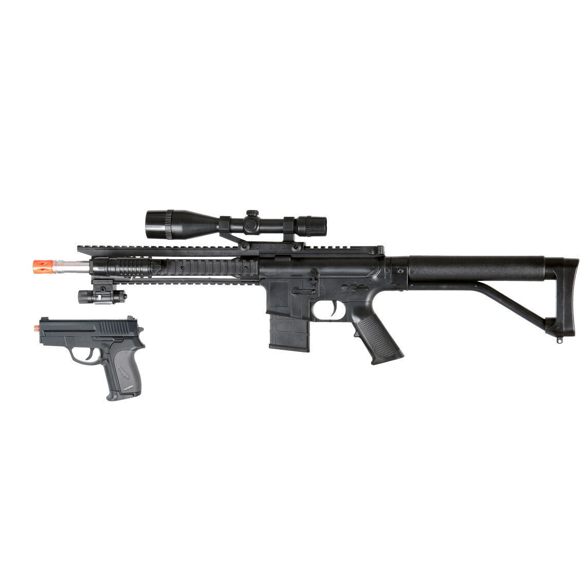 Airsoft Gun Spring Special Ops Rifle 300 FPS Sniper Scope