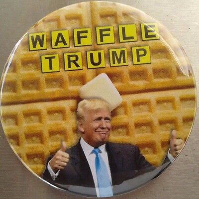 "2.25"" Anti Trump for President 2016 Waffle Trump Donald Pinback Button Badge"
