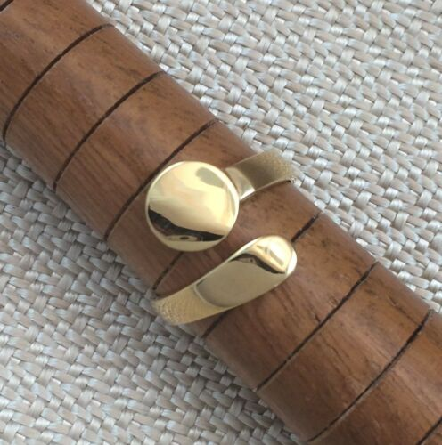 Gold Vermeil Ring Blank 8mm Pad Adjustable Style Premium Quality 14K GV Finding