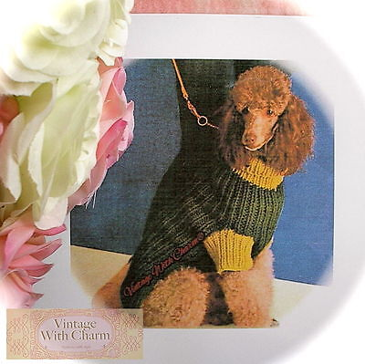 Vintage Large Dog Coat Knitting Pattern 3 Sizes For Hounds With A Heart FREE (Free Knitting Pattern Dog Coat)