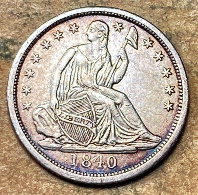 1840-P Seated Liberty Half Dime  AU