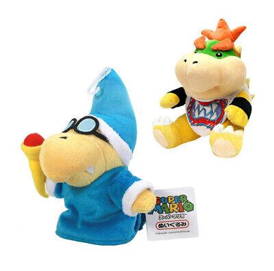 2pcs Super Mario Bros Magikoopa Kamek Bowser Jr. Koopa Plush Doll Toy Gift US - Mario Plush Bros