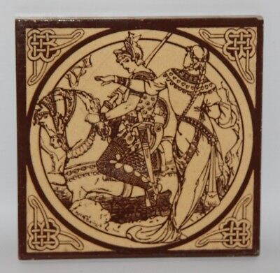 Minton Tile - John Moyr Smith - Idylls Of The King, Lynette - c1880