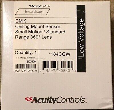 Acuity Sensor Switch Cm 9 Occupancy Sensorpir452 Sq Ftwhite Standard Range
