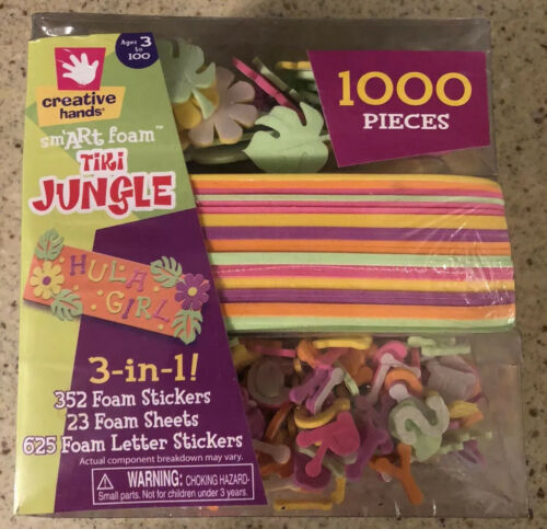 TIKI JUNGLE CREATIVE HANDS SMART FOAM 1000 PIECES STICKERS S