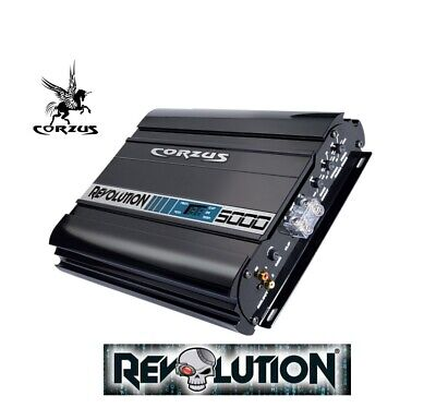 NEW! CORZUS REVOLUTION MD5000 5K W RMS 1 Ch 1 OHM OPERATES w/ LESS 10V Amp w DSP comprar usado  Enviando para Brazil