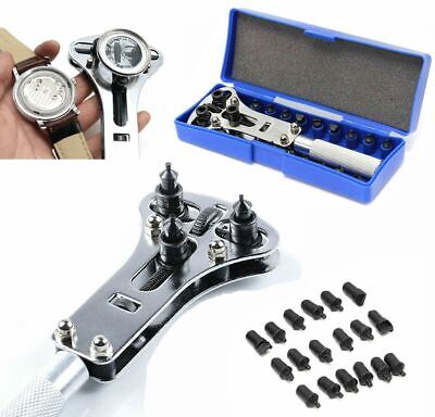 Watch Band Back Case OPENER Repair Tool Kit Battery Screw Cover Remover 17-37 mm