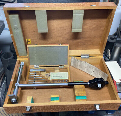 Mitutoyo 511-183 10-16 Dial Bore Gage Set Machinist Tool Maker Box Find