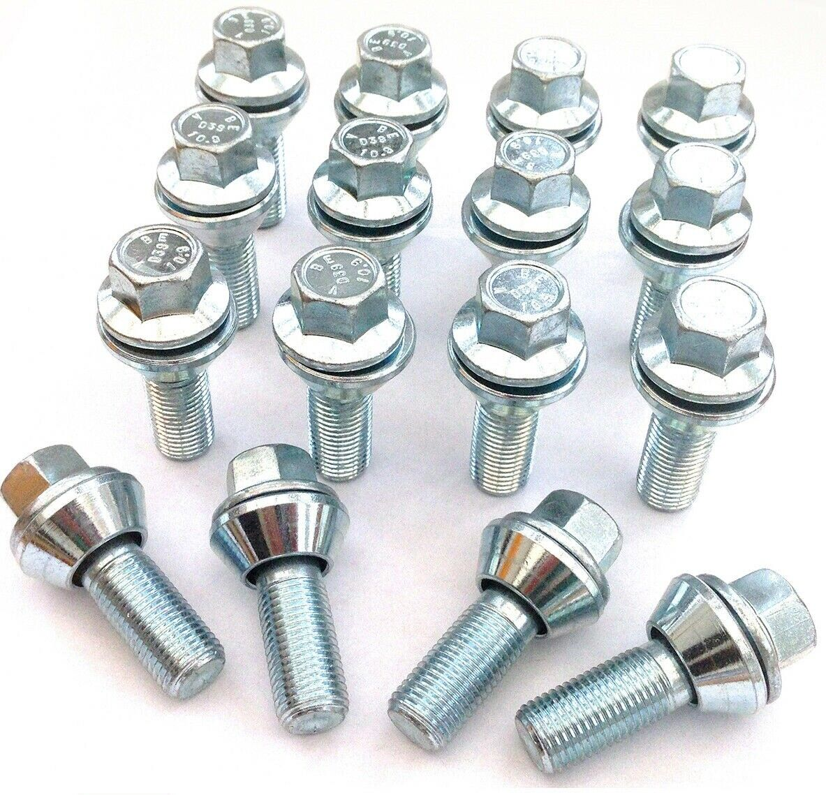 ALLOY WHEEL BOLTS FIT RENAULT TRAFFIC M14X1.5 WOBBLE WOBBLY VARIABLE BOLTS