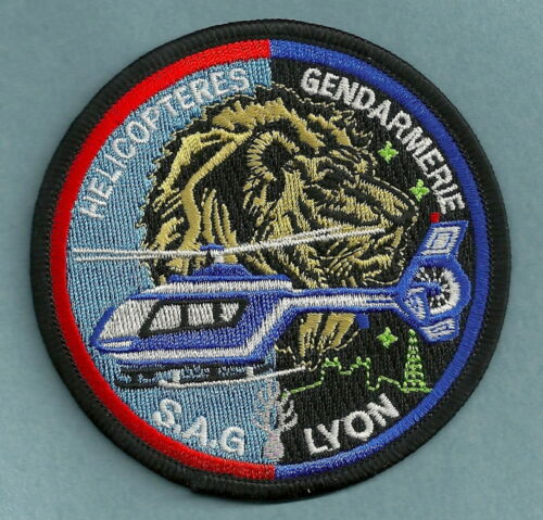 LYON FRANCE POLICE GENDARMERIE HELICOPTER UNIT PATCH