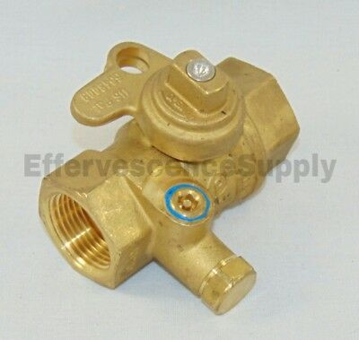 1 Brass Lockwing Utility Gas Ball Valve - Curb Stop Valve