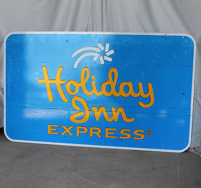 Holiday Inn Express Metal Advertising Sign   60S And 70S