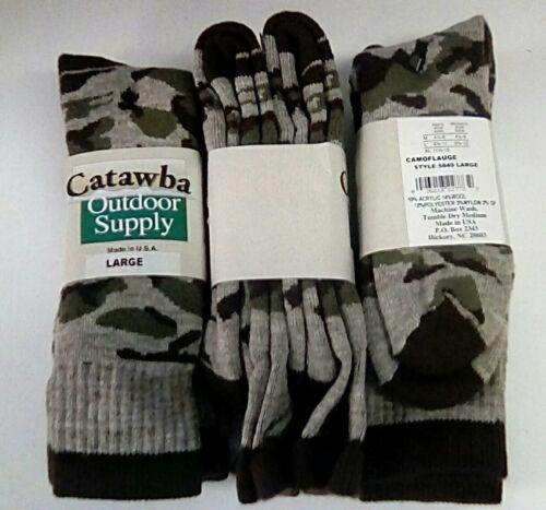 Catawba Outdoor Supply Camo Merino Wool Boot Sock, Large, 6 pair $39.99