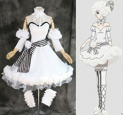 H-3316 nach Maß Black Butler Ciel Doll white Rose dress Cosplay Kleid Kostüm