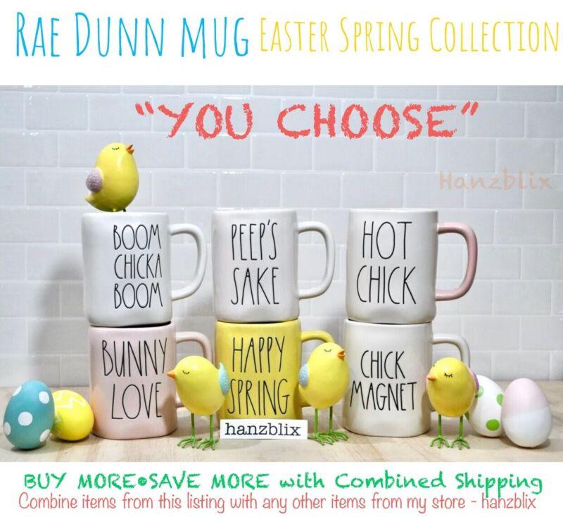 """Rae Dunn Mug """"YOU CHOOSE"""" Easter Spring Bunny Chick PEEP EGG HUNT NEW"""