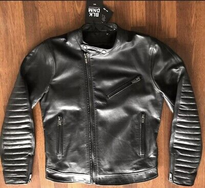 BLK DNM CAFE RACER MOTORCYCLE JACKET 31 BLACK MENS SIZE MEDIUM NEW W/TAGS $1195