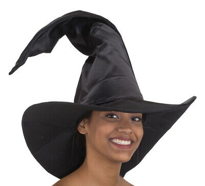Halloween Witch Costume Accessories (Witches Hat Halloween Tall Black Satan Ladies Costume)