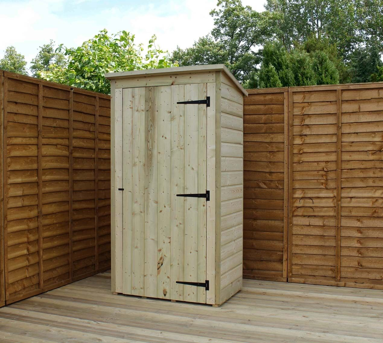 garden shed 3x2 shiplap pent roof tanalised pressure treated