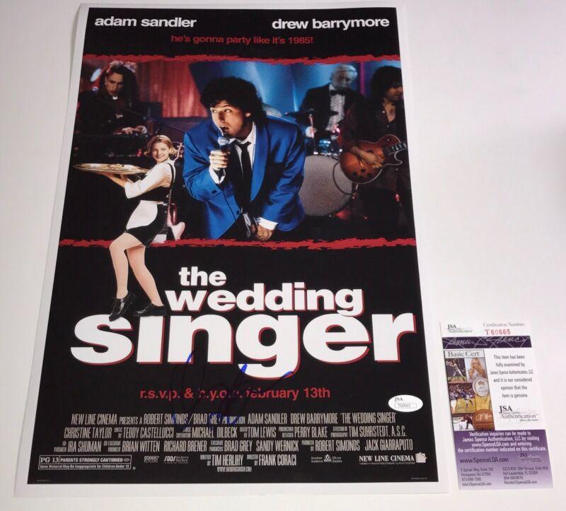 Adam Sandler Signed THE WEDDING SINGER 12x18 Photo IN PERSON Autograph JSA COA