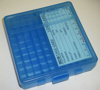 MTM Case Gard™ New MTM Plastic Ammo Box 100 Round 9mm / 380 P100-9-24 CLEAR BLUE
