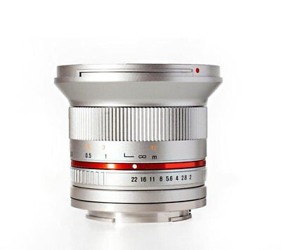 Rokinon 12mm F2.0 Ultra Wide Angle Lens for Fuji X - RK12M-FX-SIL for sale  Shipping to India