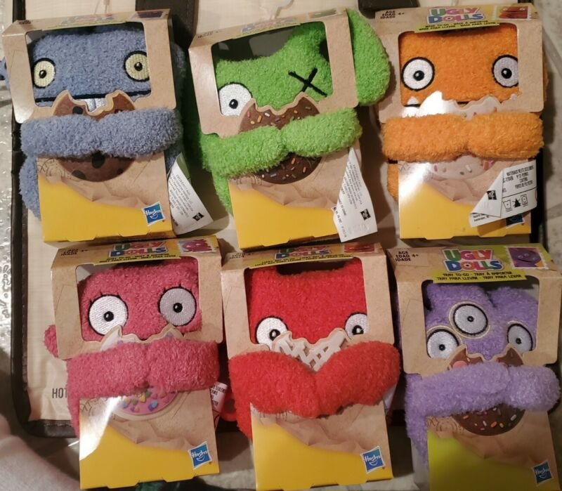 Complete Set All 6 Hasbro Plush Ugly Dolls With Clips NEW in original packaging