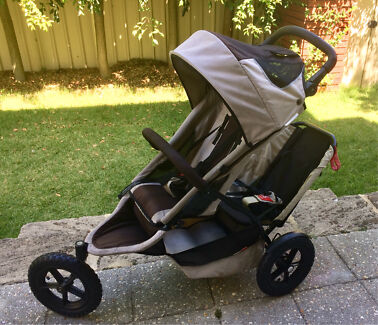 Phil & Teds double pram and accessories