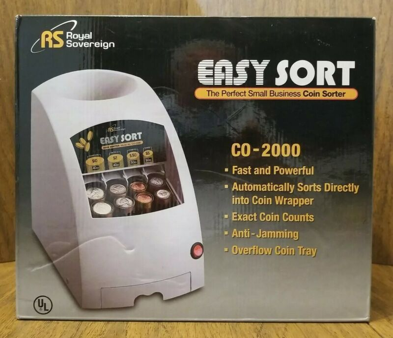 Royal Sovereign RS CO-2000 Easy Sort Small Business Coin Sorter