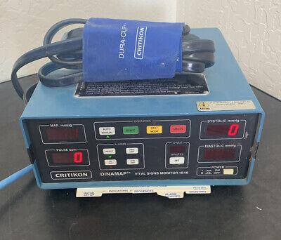 Critikon 1846 Sx Dinamap Vital Signs Monitor17-25cm Cuff - Tested And Working