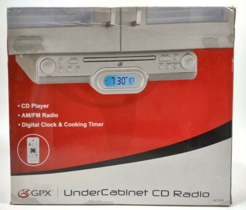 Under Cabinet CD And Radio GPX KC318S AM/FM Digital Clock Timer New Open Box  - $39.99